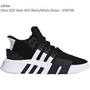Adidas Mens EQT Bask ADV Black/White Shoes D96766